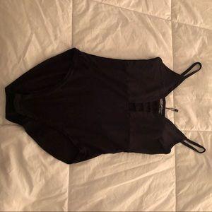 Ladder neck bodysuit